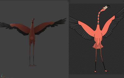[COMMISSION] WIP Flamingo Animatronic by Brickyboy99
