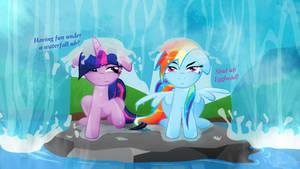 Twilight and Dashie ~The Waterfall HD
