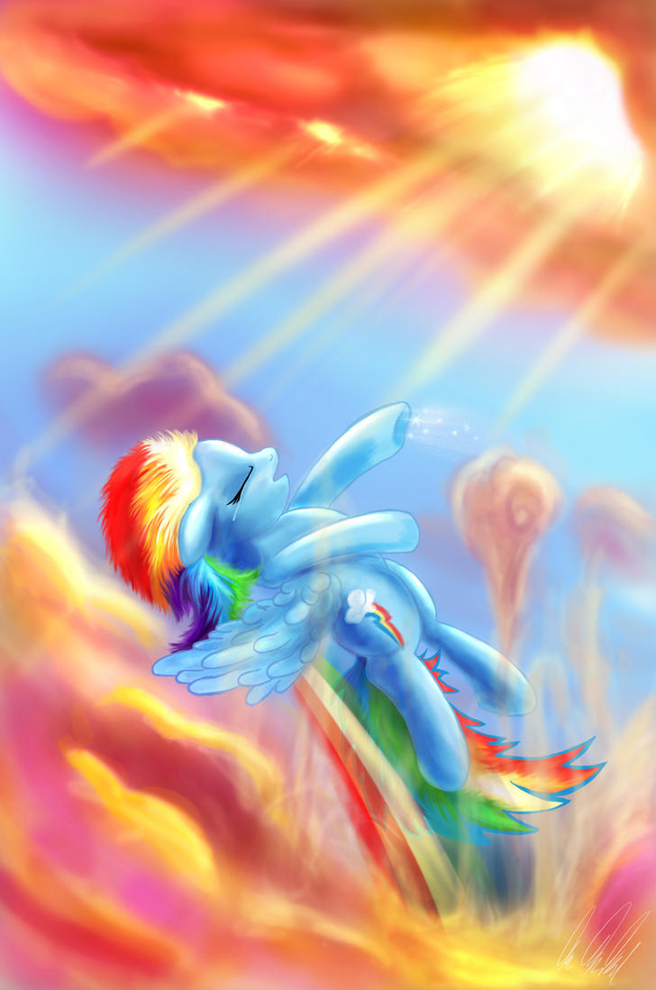 Rainbow Dash: Through the Clouds - BEST PONY by Rariedash