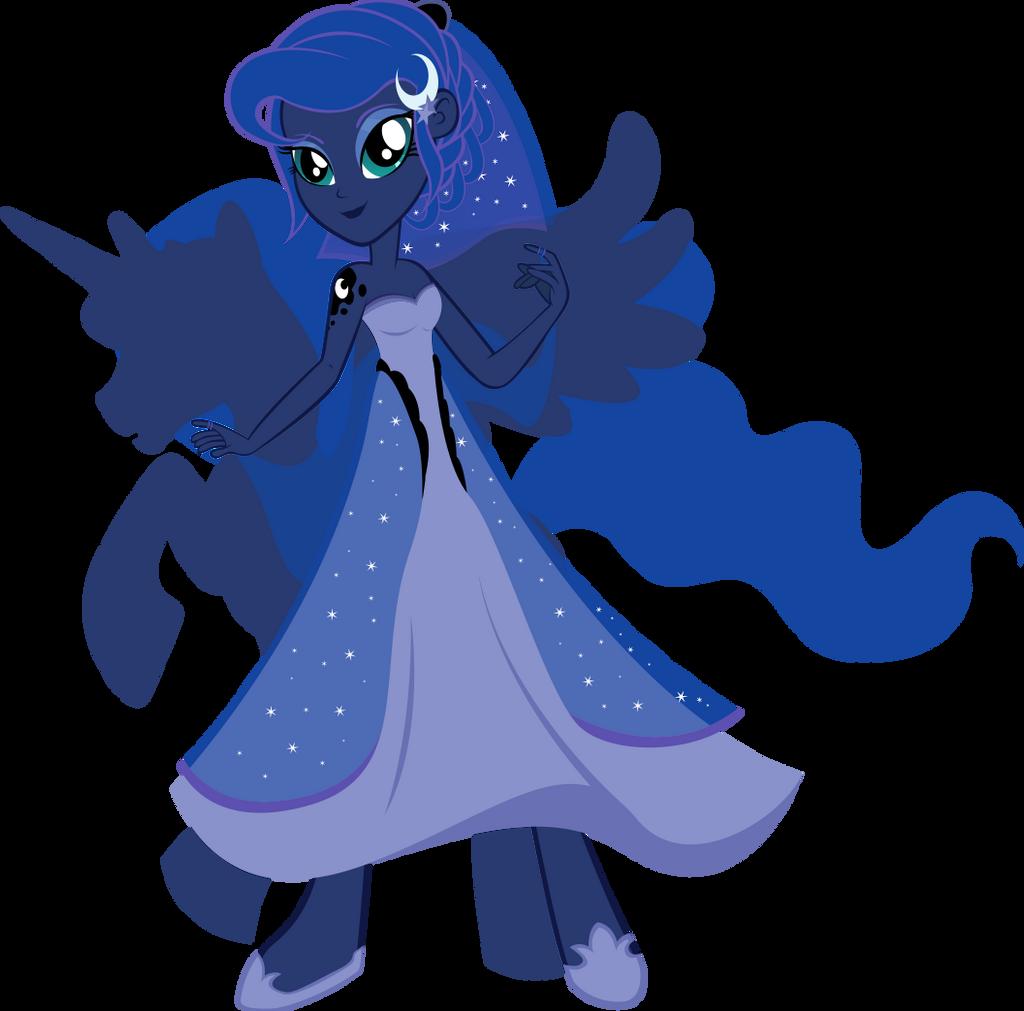 Equestria Girls - Princess Luna by Rariedash