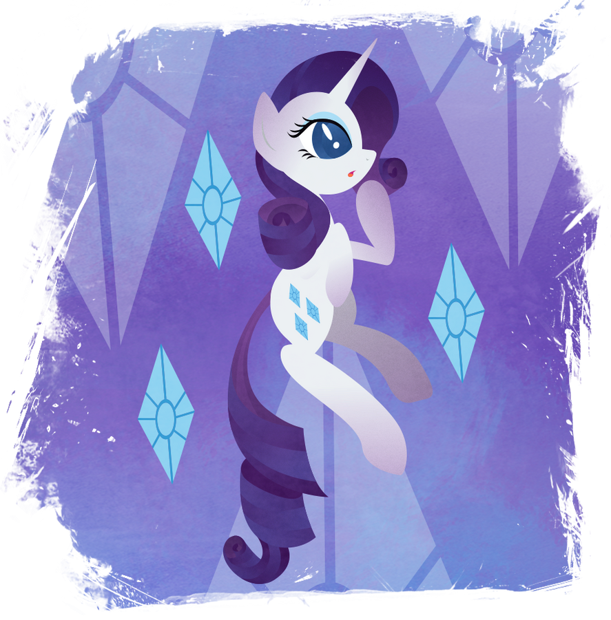 Rarity - endless fall by Rariedash