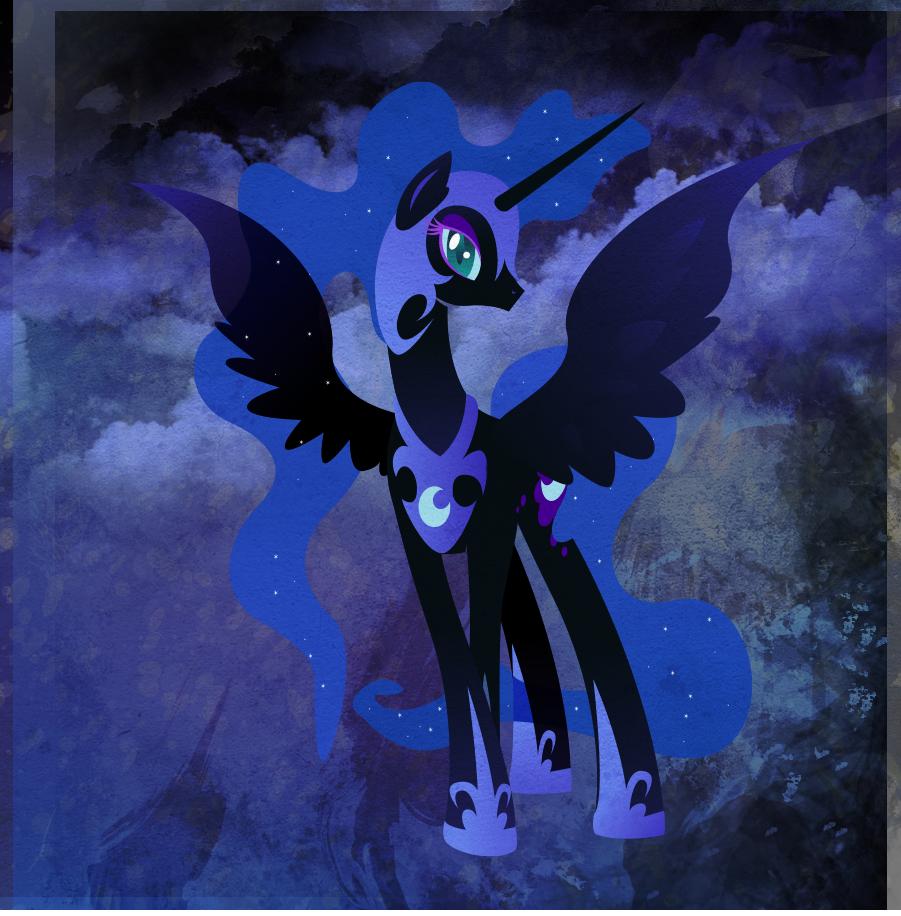 Nightmare Moon -  old Ponytale by Rariedash