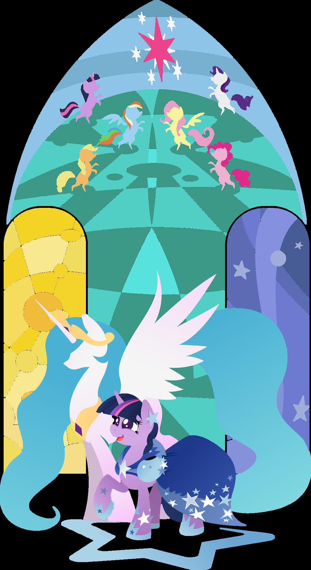 Twilight Sparkle - On Celestias Side by Rariedash