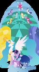 Twilight Sparkle - On Celestias Side