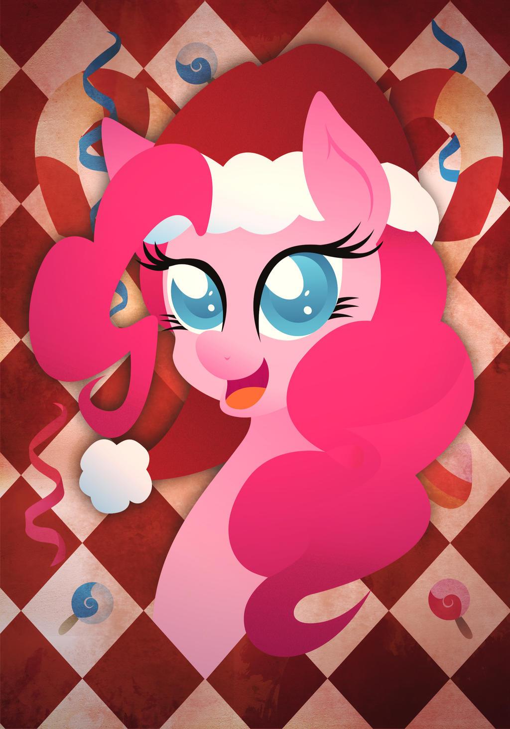 Christmas Card - Pinkie Pie by Rariedash