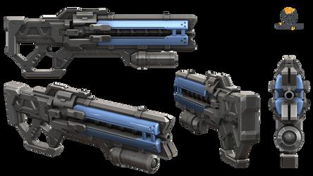 Soldier 76 Gun - Overwatch by Rariedash