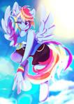 Rainbow Dash - sporty girl by Rariedash