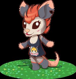 Fatalplush OC - Animal Crossing style