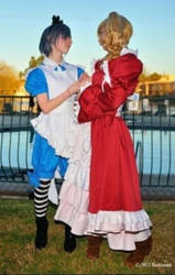 Ciel and Lizzy cosplay