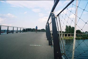 Biker on the bridge by hollystone