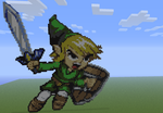 Toon Link in Minecraft