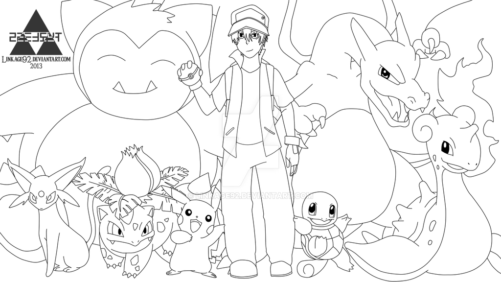 Pokemon Trainer Red - Sketch - Commission by Linkage92 on ...