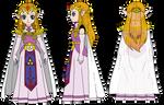 OoX Princess Zelda Turnaround (Colored)