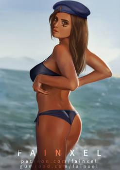 Captain Ana Amari with Bikini