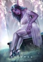 Goddess Tyrande by fainxel