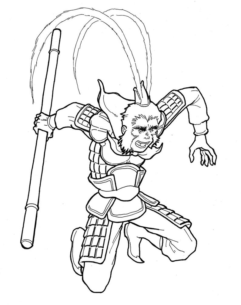 This is a picture of Sizzling Sun Wukong Drawing
