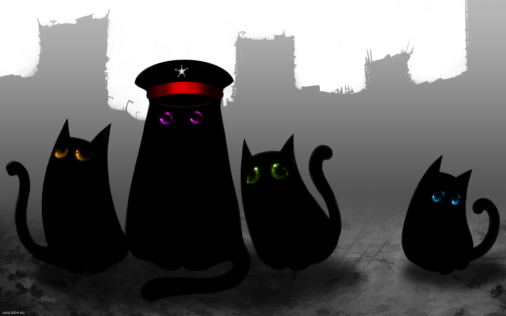 Four cats of apocalypse by Kitao-chan