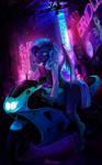 Neon moto pony commission