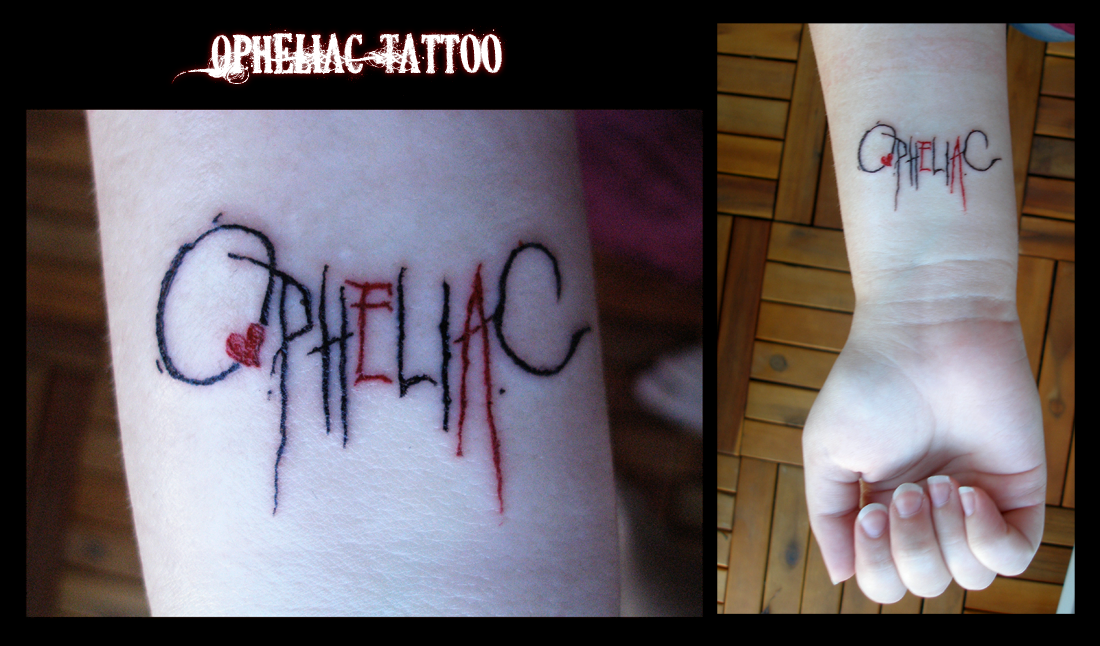 Opheliac Tattoo by C-C-Corone