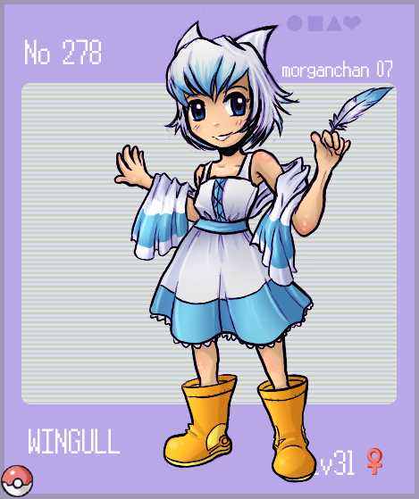 Little Wingull - for pokedex by morganchan