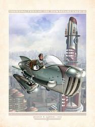 Gwen in Her Hepmobile Rocket by BWS