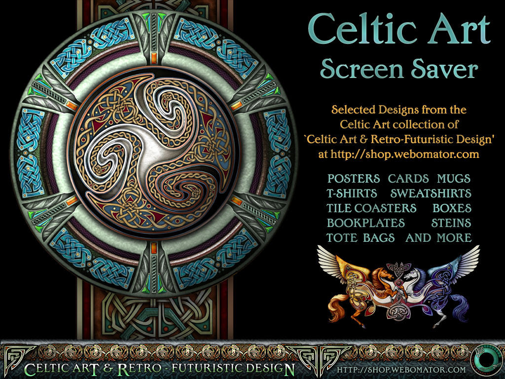 celtic art screensaver page by bws on deviantart