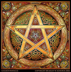 Golden Knotwork Pentacle by BWS