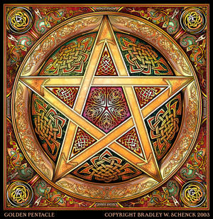 Golden Knotwork Pentacle