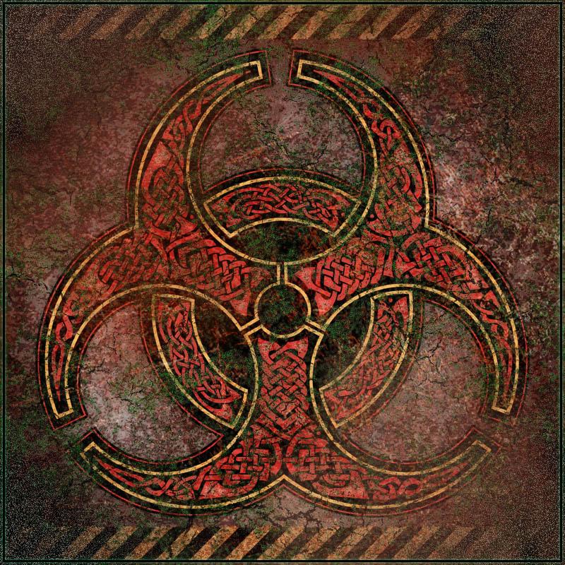 Knotwork Biohazard Symbol