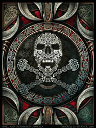 Skull and Crossbones Mandala by BWS