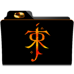 Tolkien Collection Folder Icon by dahlia069