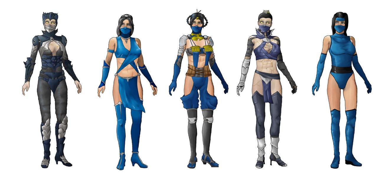 Kitana MK X Costumes by AlvMar0122