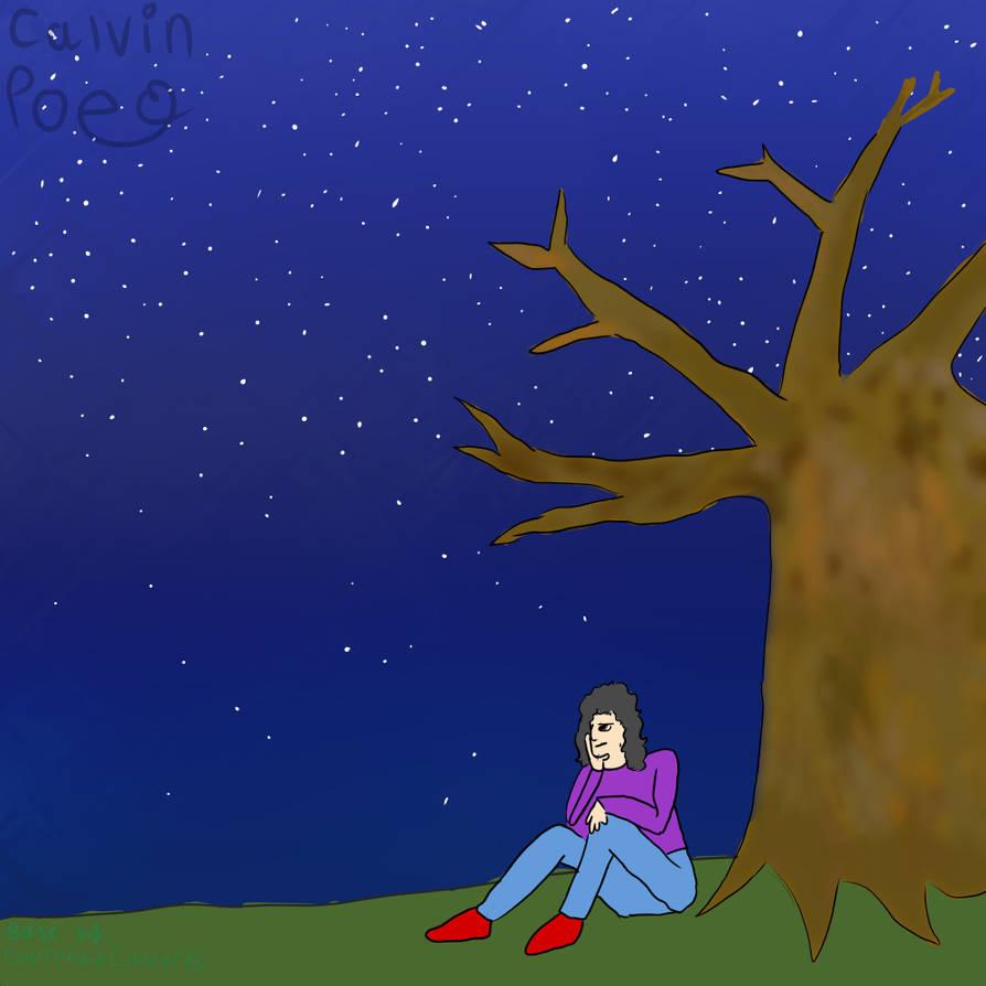 Damien under a tree