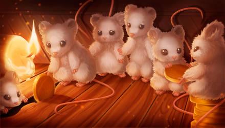 Six sad mice (The Hidden Tale story) by Kristallin-F