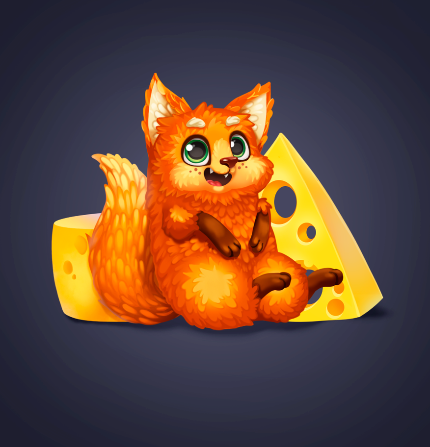 Cheese fox by Kristallin-F