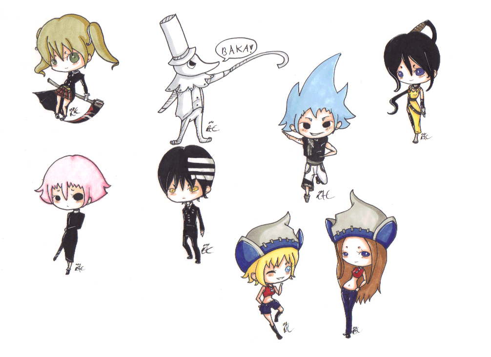 Soul Eater Keychains by CaittheCat