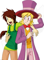 Maggie and Pierre by Dext