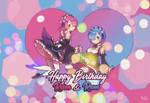 Happy Birthday Ram and Rem ~ by ziznico