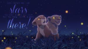 Nala and Sarabi ~ Under The Stars by Yaseii