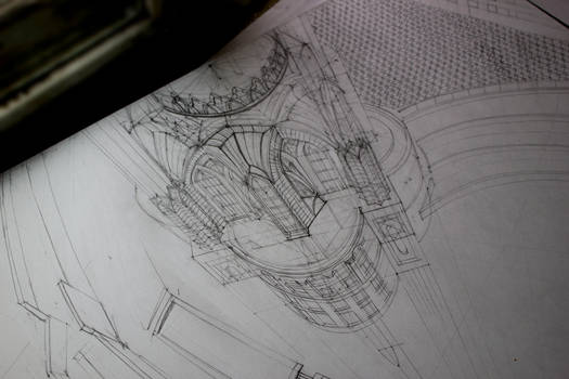 Drawing process_Kul  Sharif Mosque