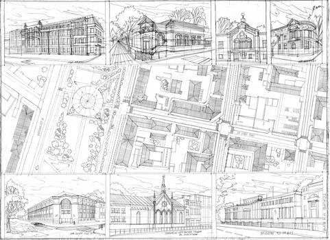 Masterplan. Kazan, Karl Fuchs's Street. Hand Draw