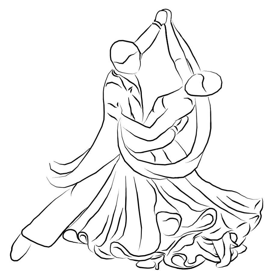 This is a graphic of Tactueux Balllroom Dancing Refrence Drawing