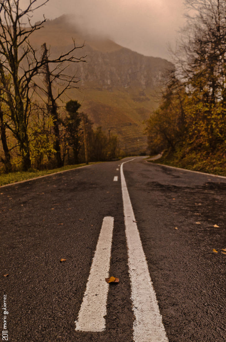Foggy road. by MarioGuti