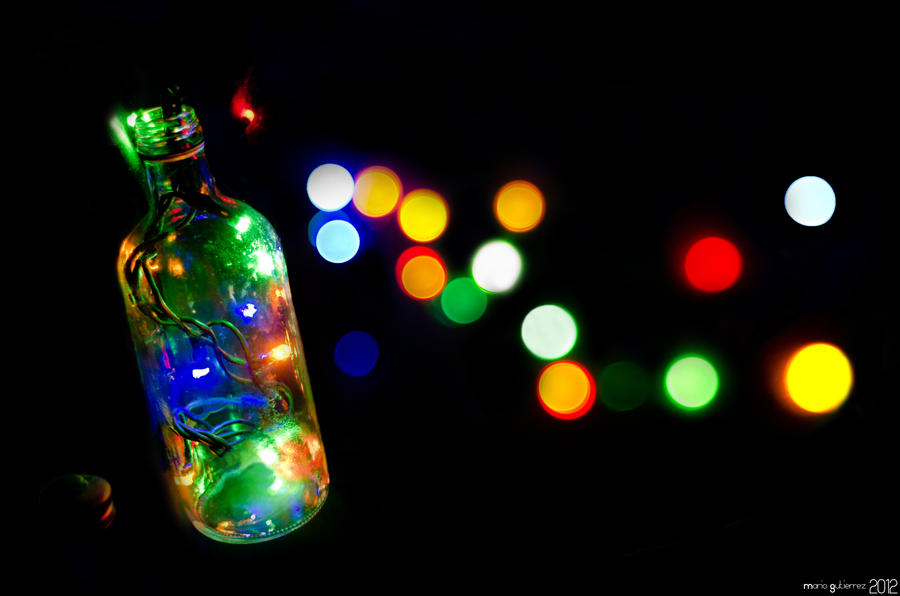 Bottle of light. by MarioGuti