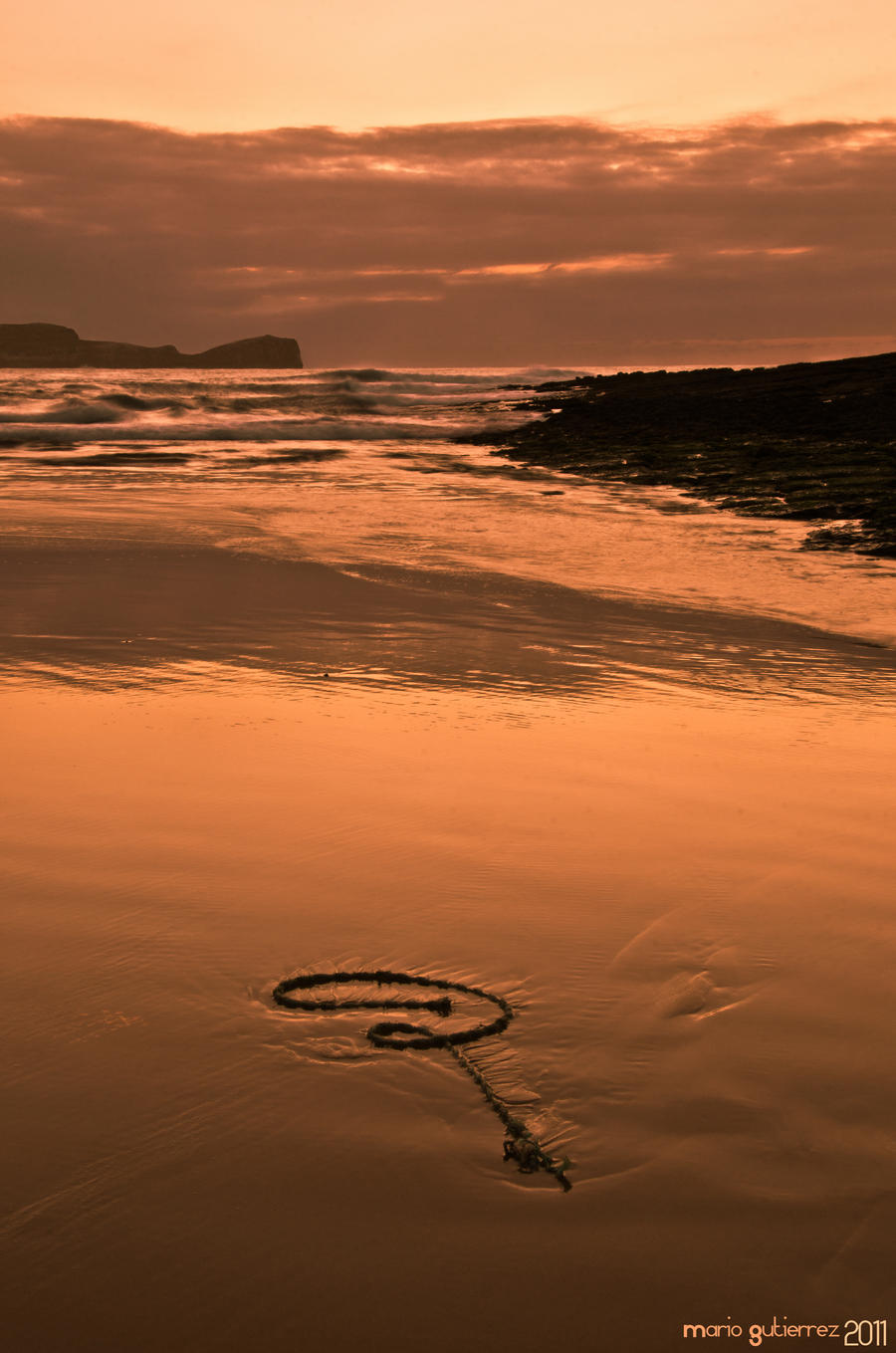 Rope at sunset. by MarioGuti