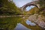 The roman bridge.