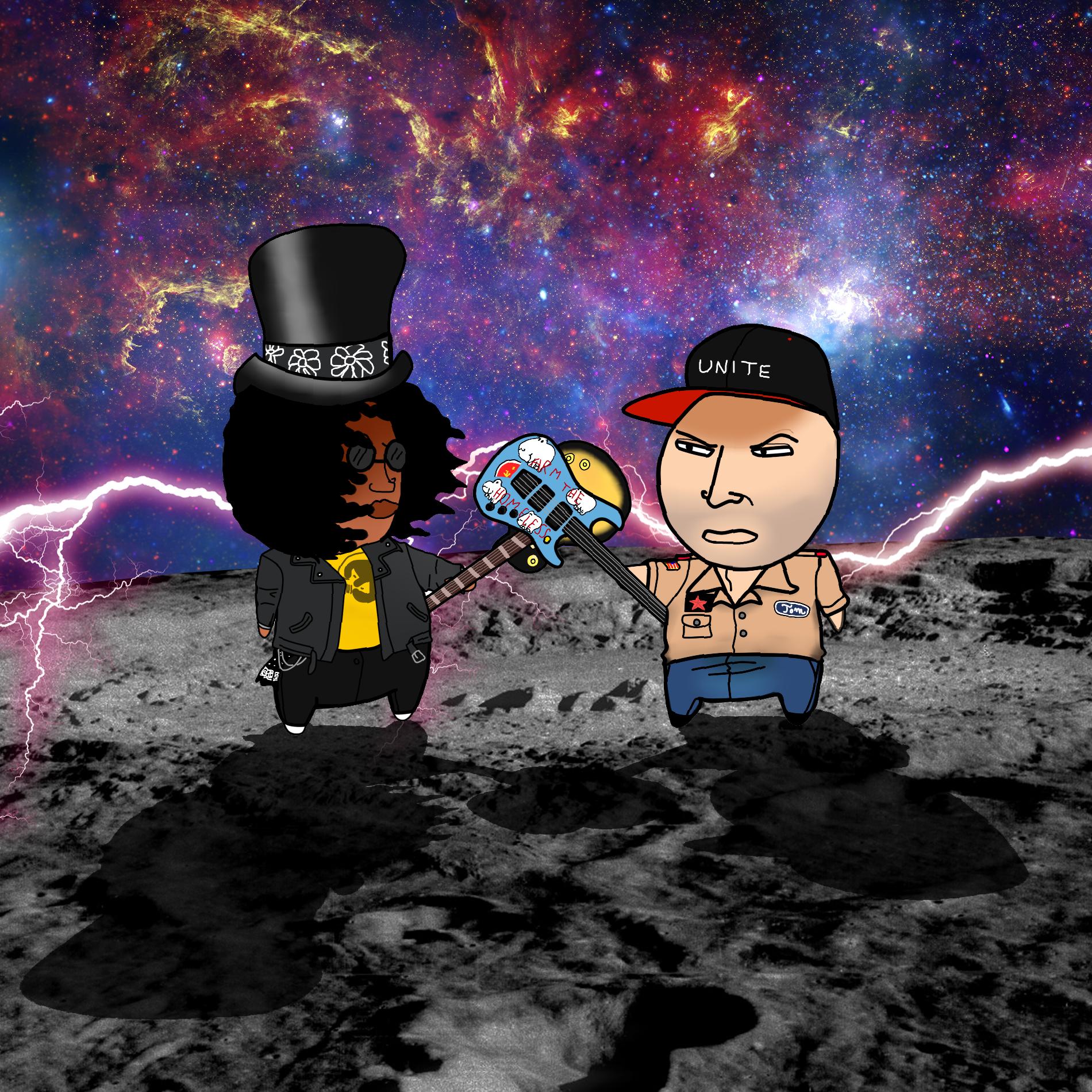 Slash vs Tom Morello by sydneypamplona