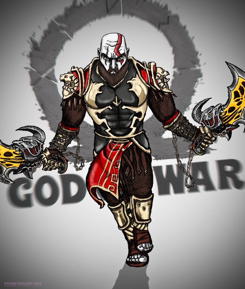 Kratos God of War by sydneypamplona