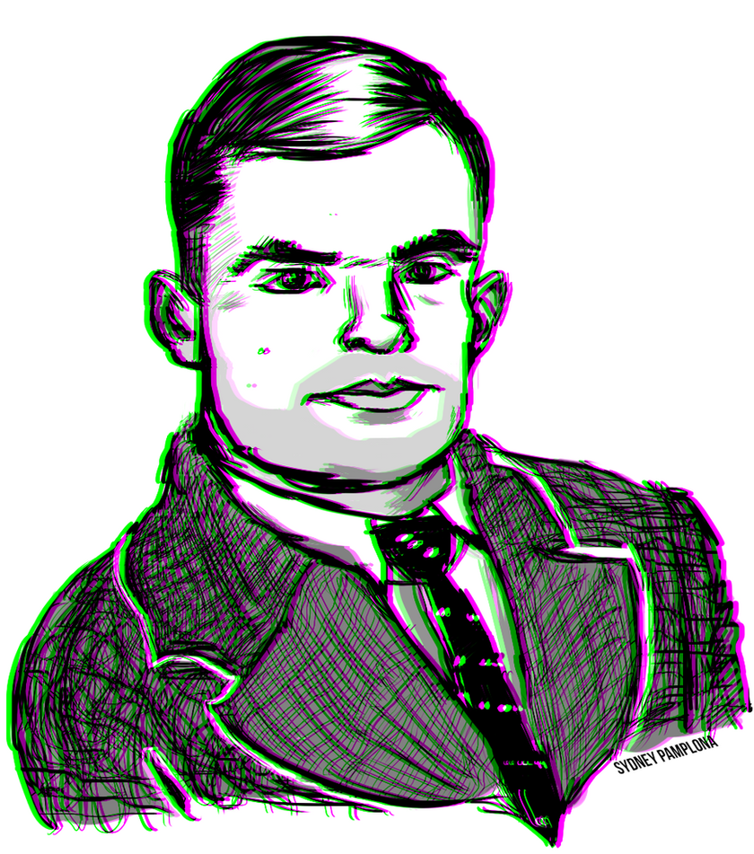 Alan Turing by sydneypamplona