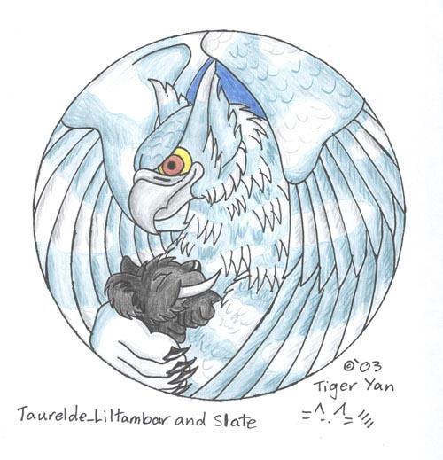 Taurelde Liltambar and Slate by the-striped-fox